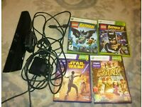 Xbox 360 kinect and accessories