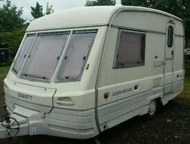 1992 swift Cornish 2 berth light weight caravan ready to go camping this summer