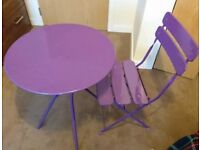 Garden table with chair