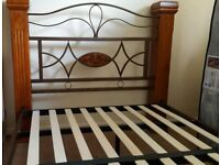 Contemporary Double Bed Frame less than 6 Months old