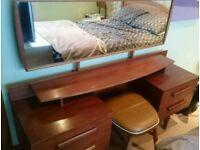 Mid century dressing table with original tilting mirror
