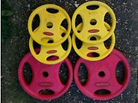Bodymax weight plates 2x5kg and 4x1.25kg good condition