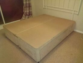 Divan bed Base and headboard, kingsize