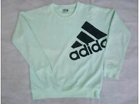 Ladies size 4-6 mint green Adidas training sweatshirt top long sleeve jumper Older Girls/Ladies