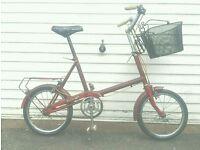 Raleigh vintage shopping bike
