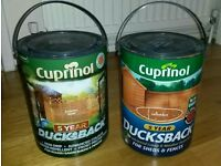 Cuprinol fence or shed paint Autumn gold £5