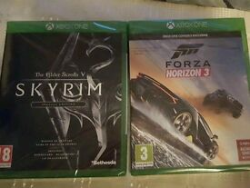 Forza and skyrim Xbox one games