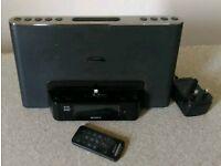 Sony dab iPhone docking station