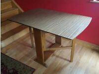 Gate leg table with folding sides suit kitchen or dining room Christmas spare