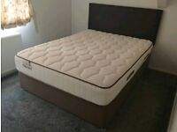 King Size Sealy Bed, Mattress and Headboard