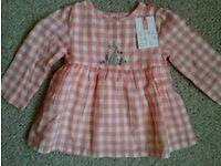 Baby girl John Lewis top / dress BNWT 3-6 months