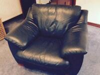Leather three seat suit and single chair
