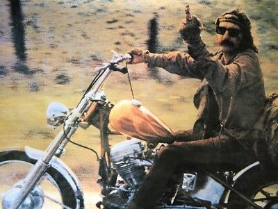 Dennis Hopper Middle finger Poster Print The Bird Easy Rider Vintage 1970s Movie