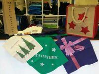 Christmas gift bag bundle job lot of 17