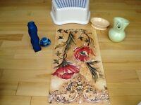 A variety of 6 Household items-Art,Bottles,