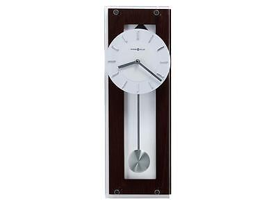 New Modern Contemporary Wood Clear Glass Pendulum White Face Wall Clock 19