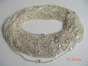 Wholesale-Lot-50-x-18-Silver-Plated-Necklace-Chains-NEW-Jewellery-Making-Crafts