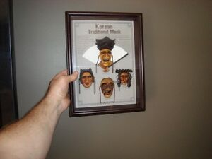 Korean Daejin Masks Play Hahoe Byeolsin Shadow Box Kitchener / Waterloo Kitchener Area image 2