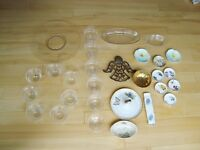 Lot of 29 Pieces of Plateware, Glassware and Misc. $17 for all