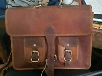 Vintage real leather tan satchel