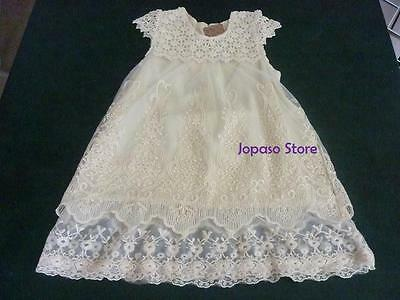 Flower Girl Vintage Summer Lace Dress for Wedding and Party (Vintage Flower Girl Dresses Lace)