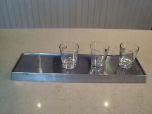 Cast Aluminum Shot Glass Drip Tray for your Bar or Counter
