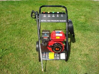 2500PSI Petrol Pressure Washer with 10 Meter Hose & 5 Outlet Nozzles