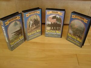The Civil War 125th Anniversary Series 4 VHS Set -Mint Condition