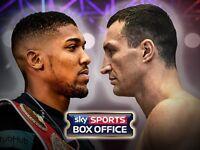 2 x Anthony Joshua vs Klitschko tickets @ Wembley
