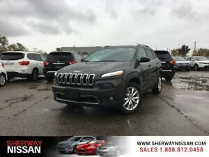 2015 Jeep Cherokee,accident free one owner trade.leather ,naviga
