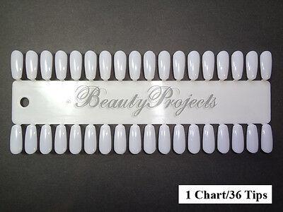 36tips Nail Art Polish Gel Design Display Palette Color Practice Tips - 1 Chart