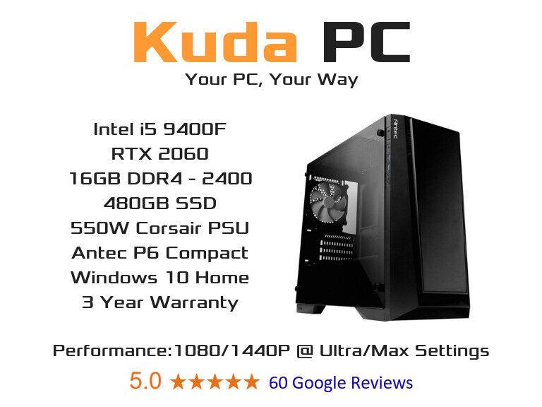 KUDA GAMING PC - i5 9400F - 16GB DDR4 - RTX 2060 - 480GB SSD - WIN 10 - 3  YEAR WARRANTY | in East End, Glasgow | Gumtree