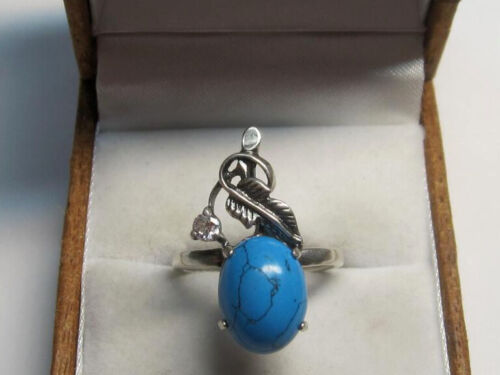Vintage Russian Sterling Silver 925 Ring , Women