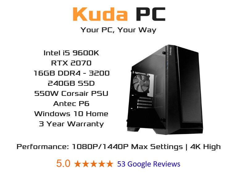 KUDA GAMING PC - i5 9600K - 16GB DDR4 - RTX 2070 - 240GB SSD - 3 YEAR  WARRANTY - WIN 10 | in Edinburgh City Centre, Edinburgh | Gumtree