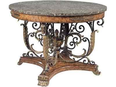 Maitland-Smith 8100-30  Brass Ash Veneer Center Table, Snakeskin Top RETIRED ()
