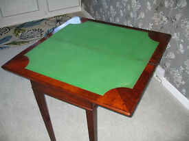 Antique Mahogany Card Table / Console Table