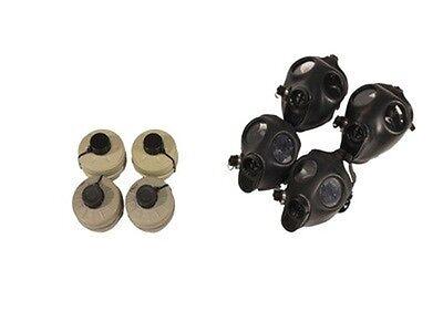 Family Kit- 2 Adult 2 Children Israeli Gas Mask W Original Type 80 Filter