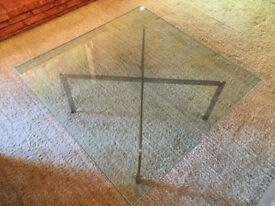 Knoll Barcelona Style Large X- Base Coffee Table | Iconic | Luxury | Brand New