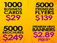 Business cards, Flyers, Brochures, Banners, Truck Lettering and.