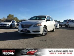 2014 Nissan Sentra,low km, one owner accident free trade.