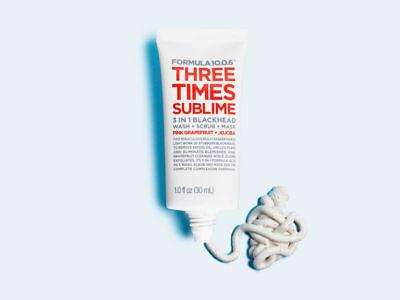 Formula 10.0.6 Three Times Sublime 3 in 1 Blackhead Treatment Wash Scrub Mask -