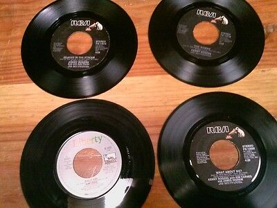 KENNY ROGERS 45 RPM RECORDS - Lot of 4 From Jukebox Route VG- to VG+ condition