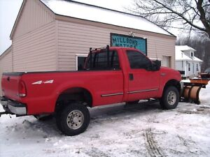 1999 FORD F250 2 DOOR 4X4 with PLOW London Ontario image 3