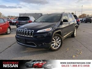 2016 Jeep Cherokee,one owner accident free trade,extended warran