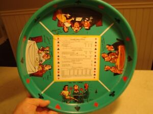 """Card Game Illustrated Drink Serving Tray 14"""" Diameter"""