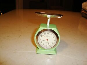 """Urban Station Heavy Cast Weigh Scale Clock - 4.5"""" tall x3"""" Kitchener / Waterloo Kitchener Area image 1"""