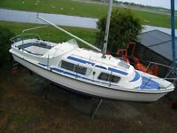 MOTOR SAILER YACHT CABIN CRUISER. MAY PX SWAP. W.H.Y MOST THINGS CONSIDERED.