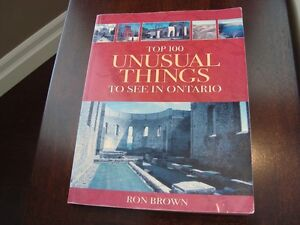 Top 100 Unusual Things to see in Ontario by Ron Brown -208 Pages Kitchener / Waterloo Kitchener Area image 2