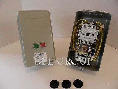 Magnetic Motor Starter 7.5hp 1ph W Push Button On Off Switch