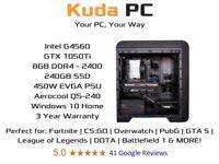KUDA GAMING PC - G4560 - GTX 1050Ti - 8GB DDR4 - 240GB SSD - WIN 10 - 3 YEAR WARRANTY - DELIVERY